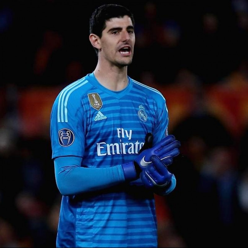 Maglia gara Courtois Real Madrid, UCL 2018/19