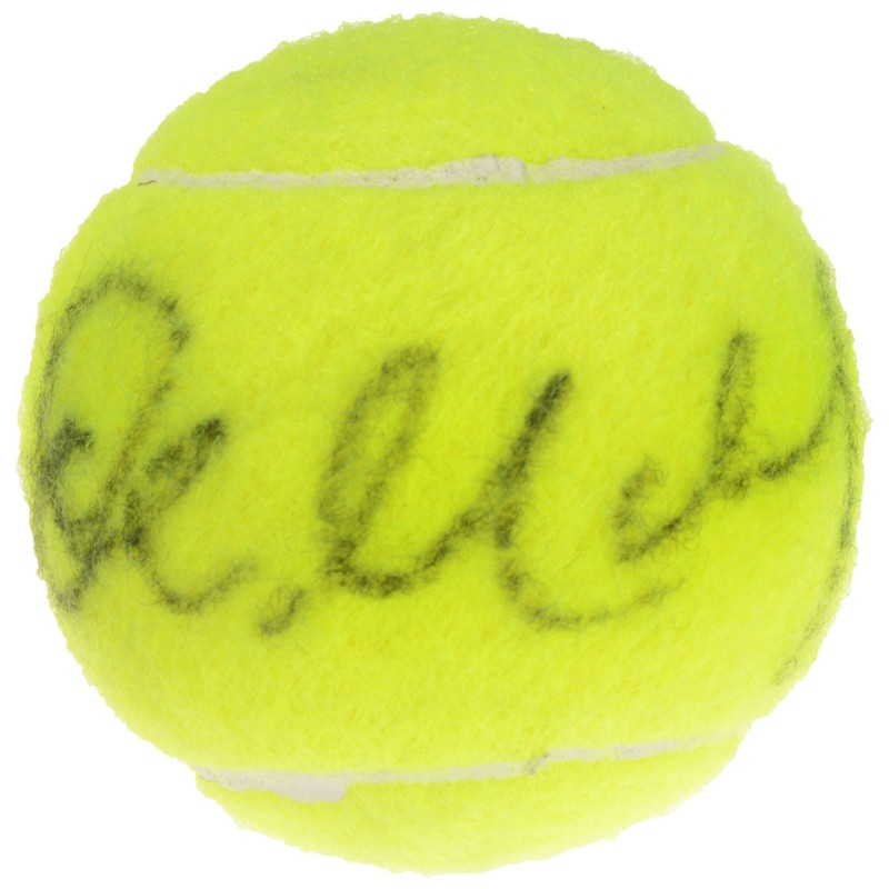 John McEnroe Hand Signed Tennis Ball
