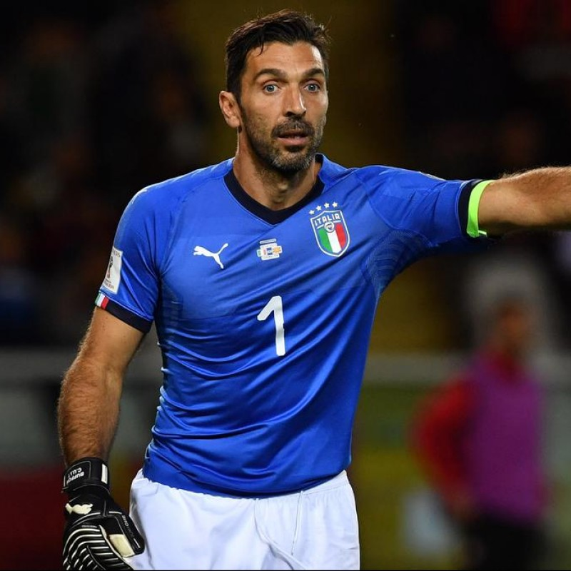 Buffon's Match Shirt, Italy-Macedonia 2017