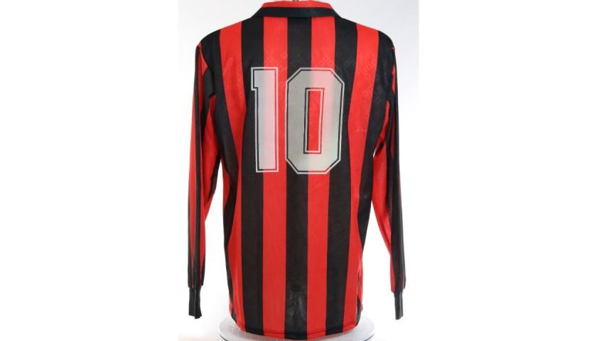 Gullit's AC Milan Signed Match Shirt, 1989/90