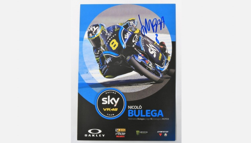 Bulega Signed Photograph, Moto3
