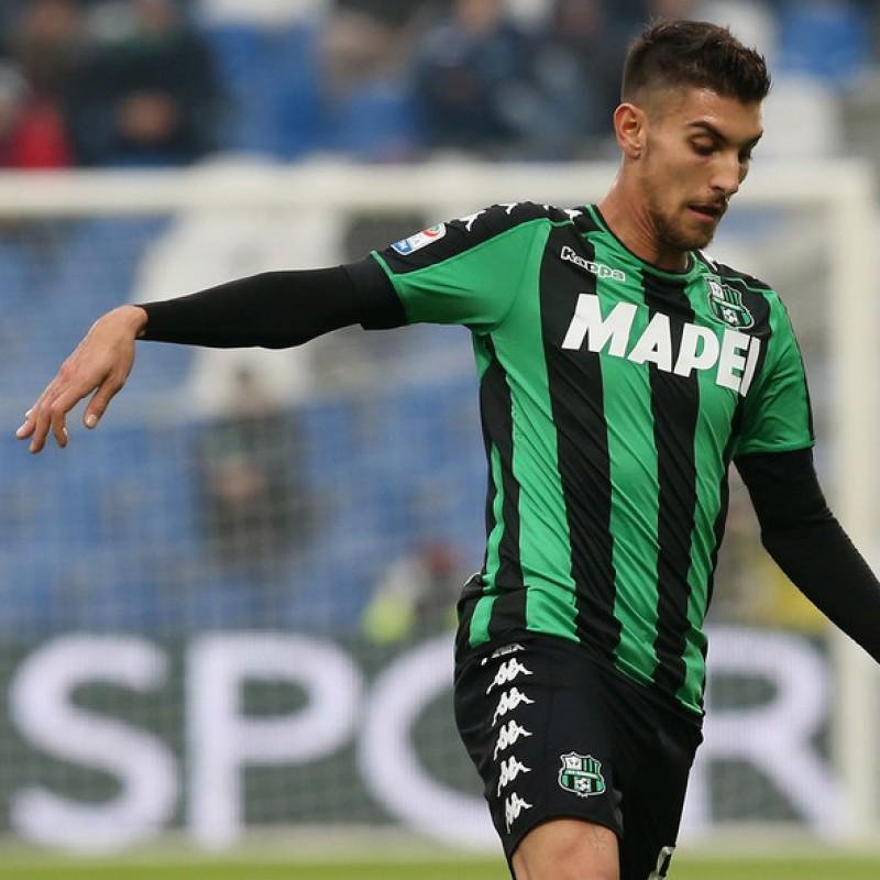 Pellegrini Sassuolo Match Worn Shirt, Serie A 2016/17
