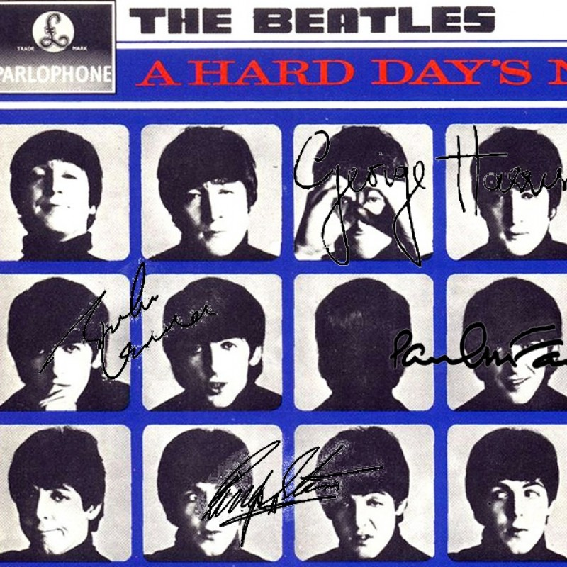 "The Beatles ""A Hard Day's Night"" Album with Printed Signatures"