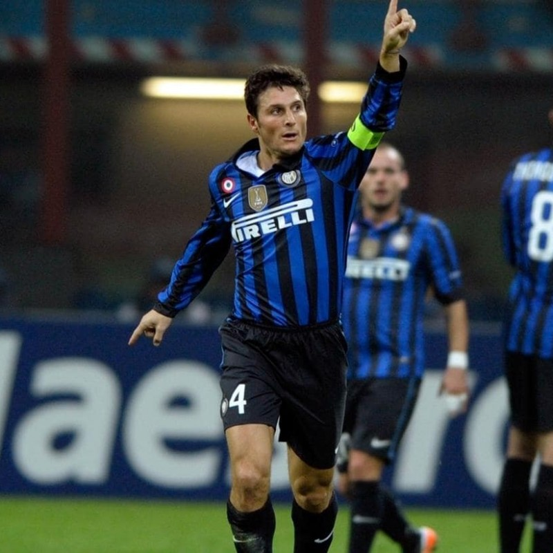 Zanetti's Official Inter Signed Shirt, 2011/12
