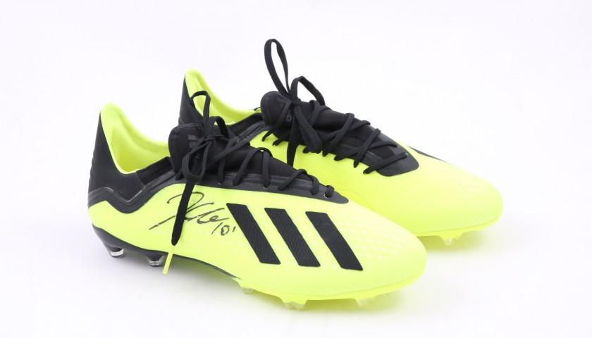 uk availability 1964d bbf89 Adidas X18.1 Boots Signed by Paulo Dybala - CharityStars