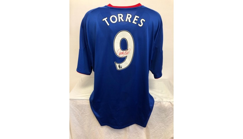 Torres' Official Chelsea Signed Shirt, 2010/11