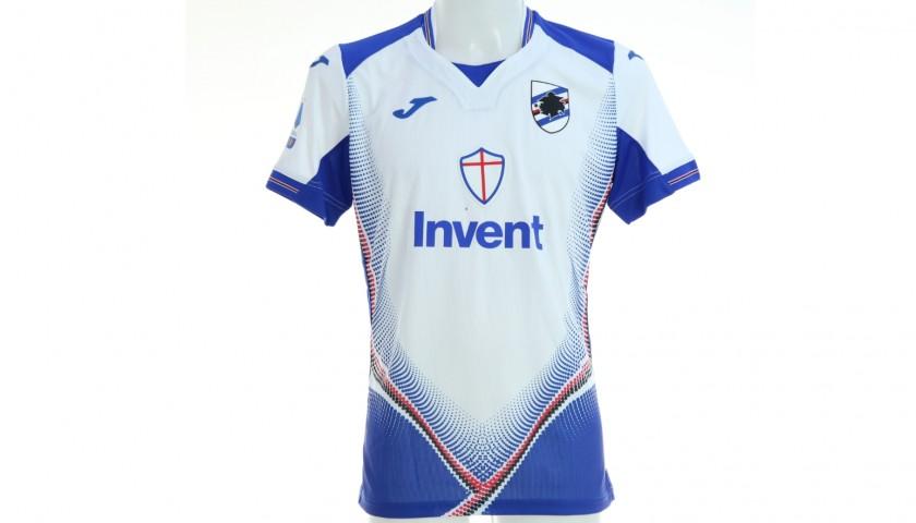 Gaston's Sampdoria Match-Issued Signed Shirt, 2019/20