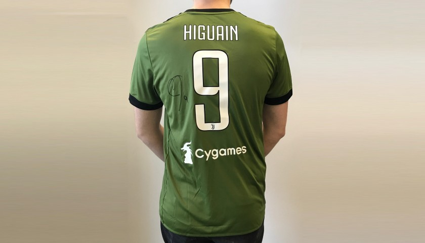 Official 2017/18 Juventus Shirt Signed by Higuain - CharityStars