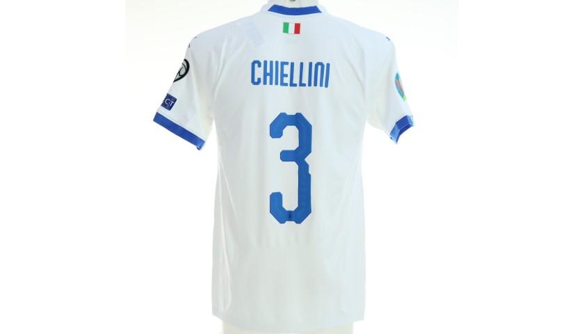 Chiellini's Match Shirt, Greece-Italy 2019