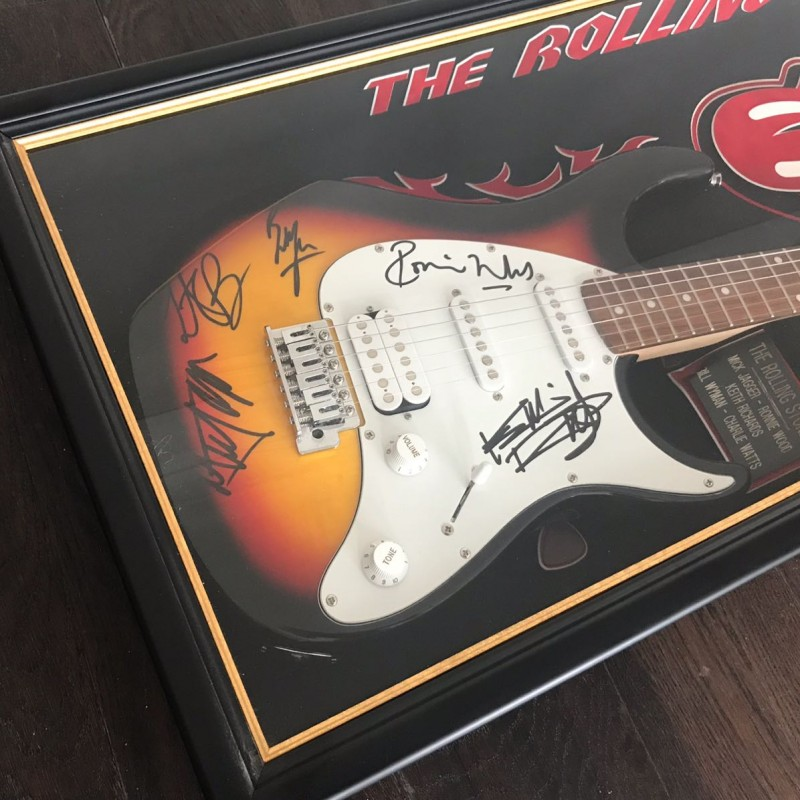 Limited Edition Electric Guitar Signed by the Rolling Stones