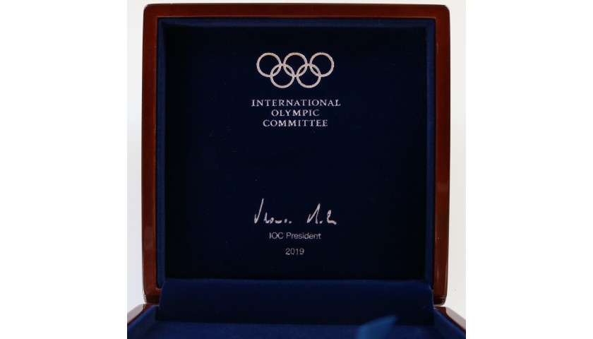 International Olympic Committee Commemorative 125th Anniversary Medal + 2 Swatch Watches