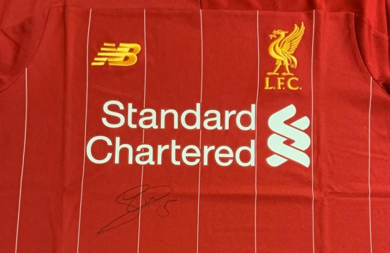 Gini Signed Liverpool FC Shirt