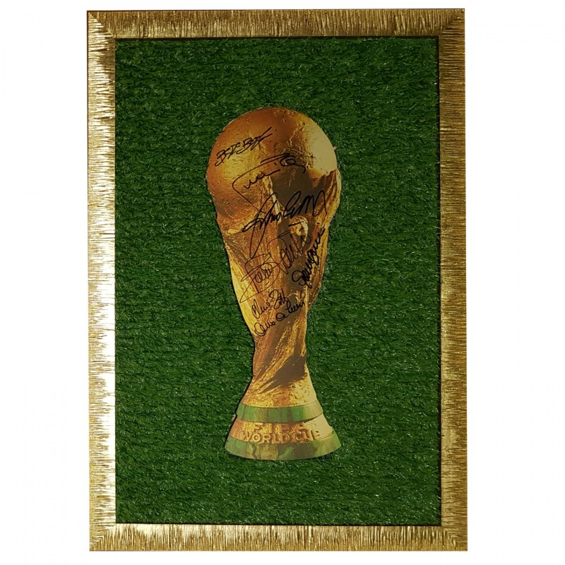 World Cup Artwork Signed by the 1982 World Champions
