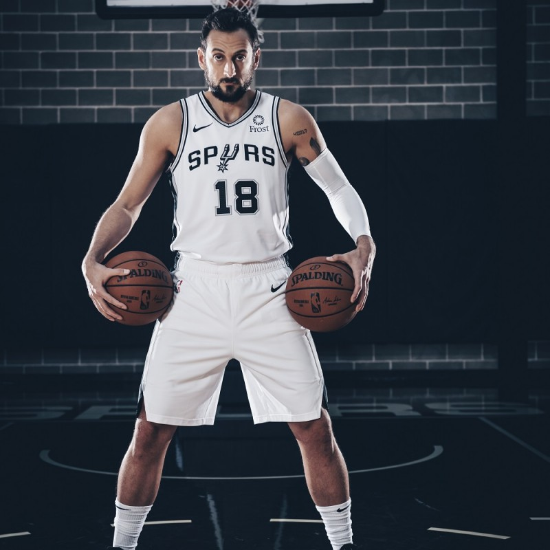 Belinelli's Official San Antonio Spurs Signed Jersey, 2018/19