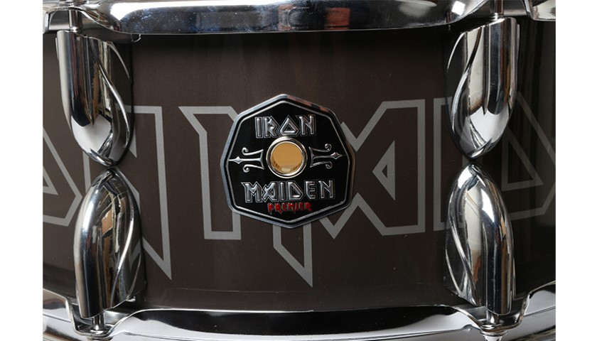 NICKO MCBRAIN – Iron Maiden Signed Snare Drum