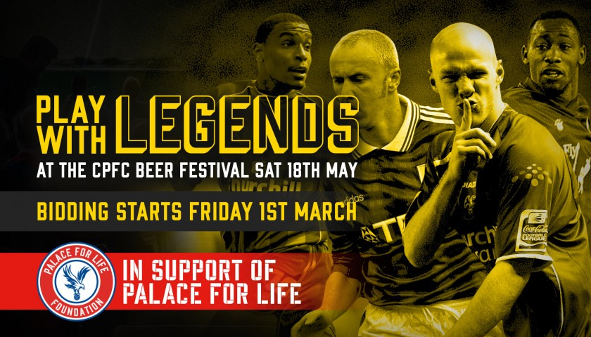 Play Centre Midfield Alongside Crystal Palace F.C Legends Andy Johnson and Andy Gray