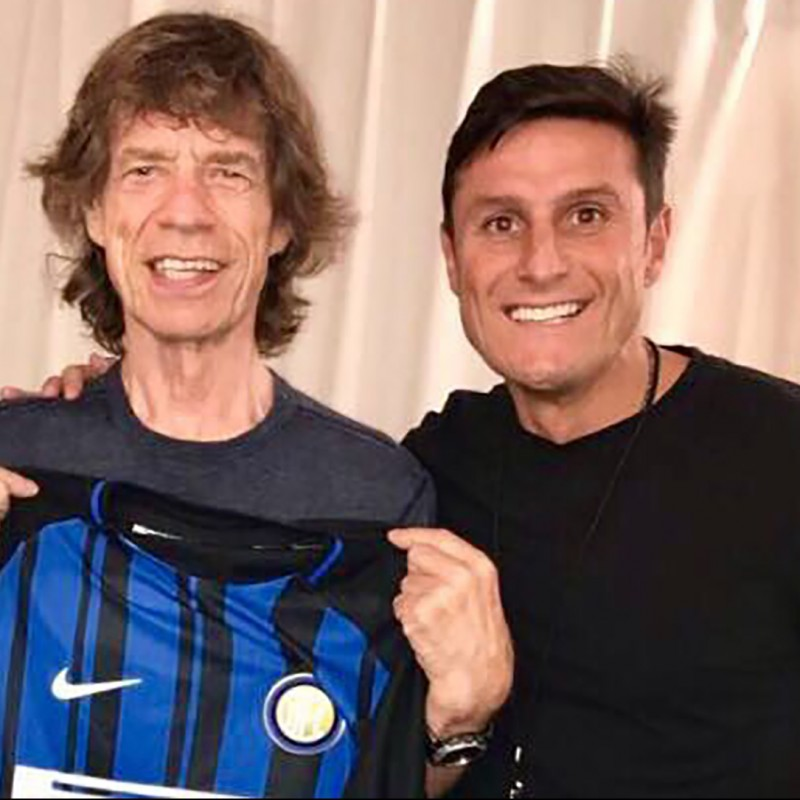 Official Inter 2018/19 Shirt - Signed  by Mick Jagger