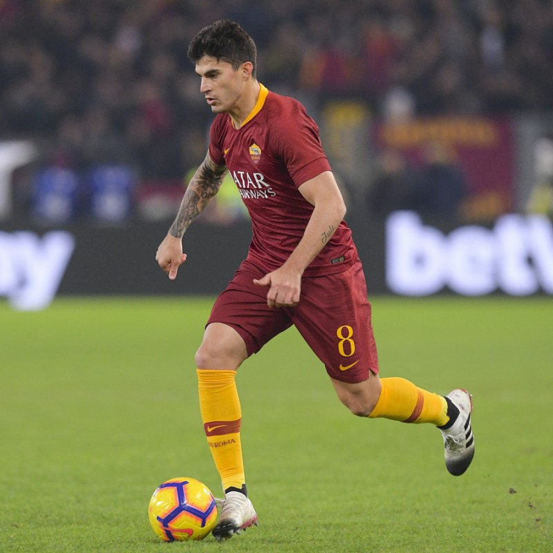 Perotti's Worn and Signed Shirt, Roma-Genoa 2018