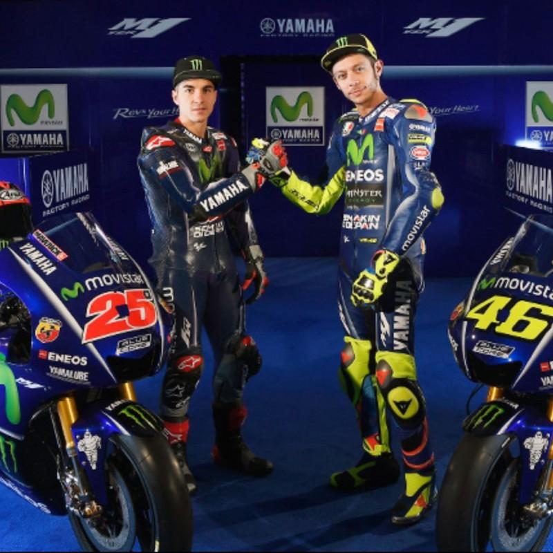 Valentino Rossi and Maverick Viñales Signed Yamaha Visor