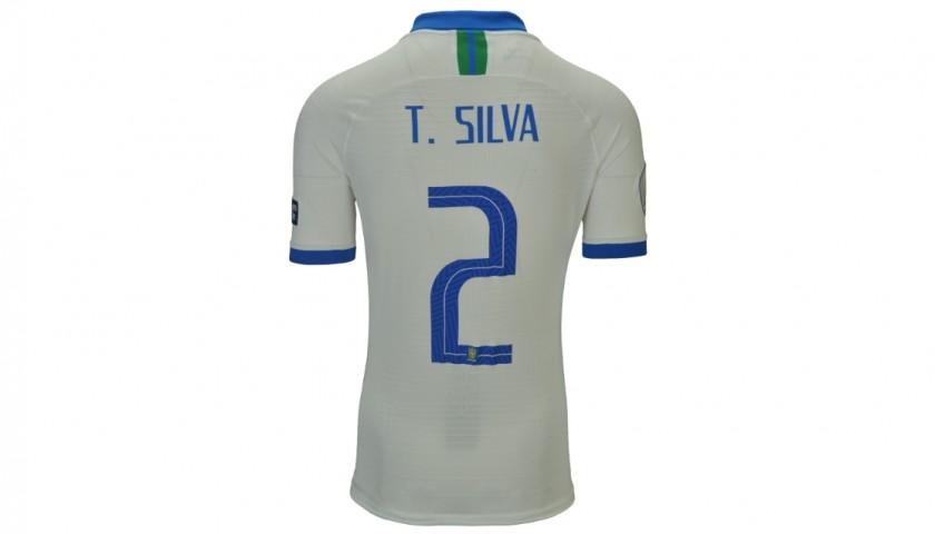 Thiago Silva's Match Shirt, Brazil-Bolivia 2019