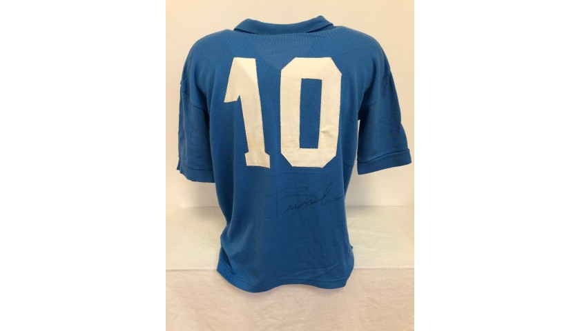 Vintage Maradona Napoli Shirt, 1989/90 - Signed by Giordano