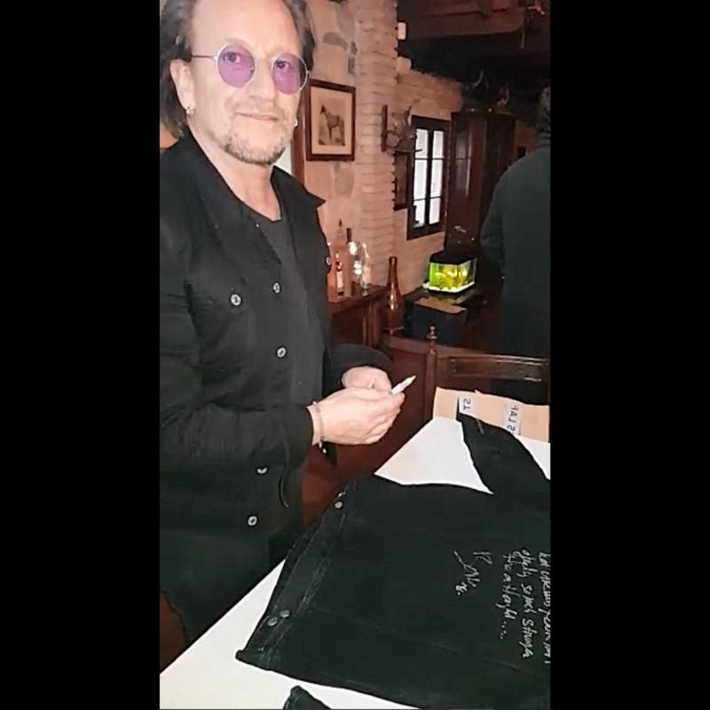 Bono Vox Signed Diesel Jacket