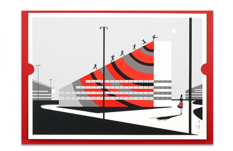 Signed Limited Edition Lithograph of Casa Milan by Barbara Berlusconi