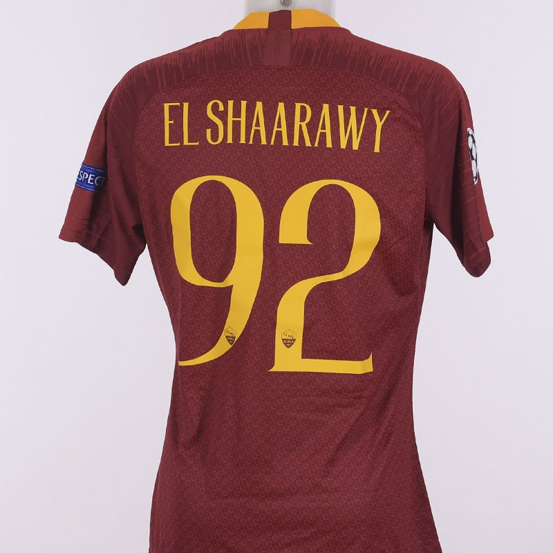 El Shaarawy's Match-Issue Shirt, Roma-Real Madrid CL 18/19