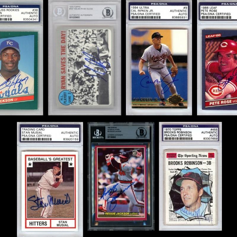 Baseball Greats Mystery Box: Hand Signed Card