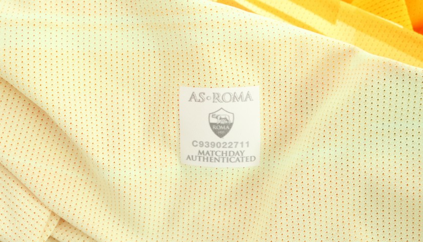 Fuzato's Worn and Signed Shirt, Roma-SPAL 2019