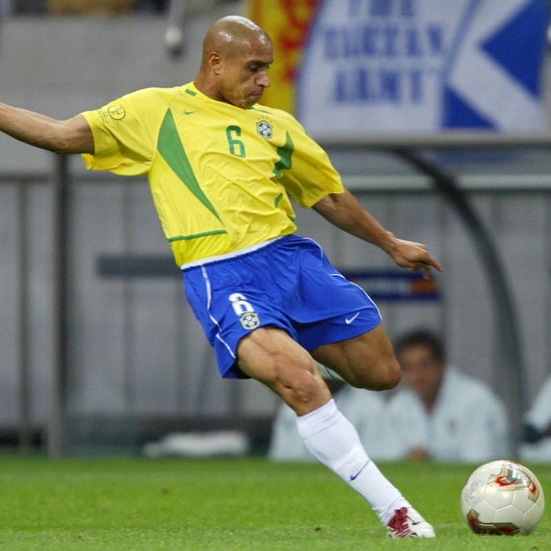 Roberto Carlos' Official Brazil 2002 Signed Shirt