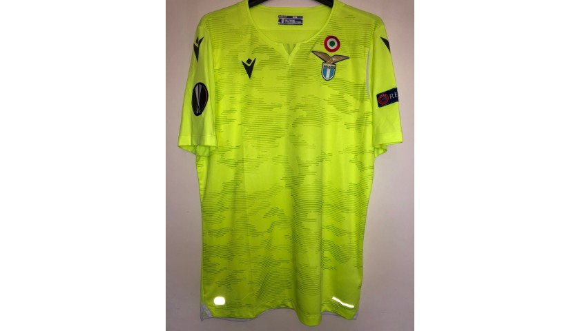 Strakosha's Match Shirt, Celtic-Lazio 2019