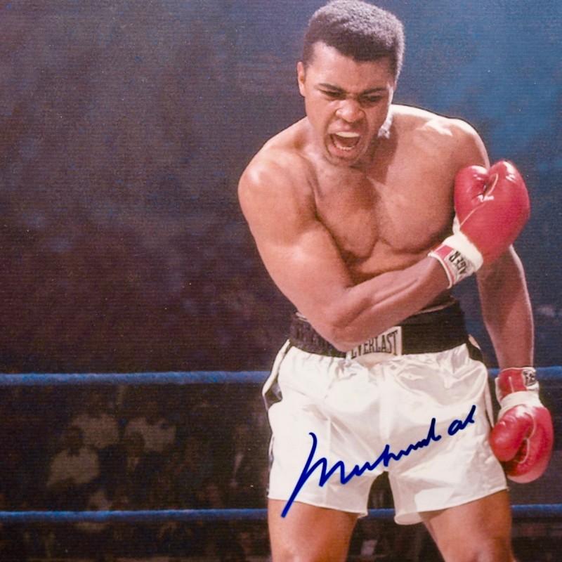 """""""The Phantom Punch"""" Iconic Photo Signed by Muhammad Ali"""