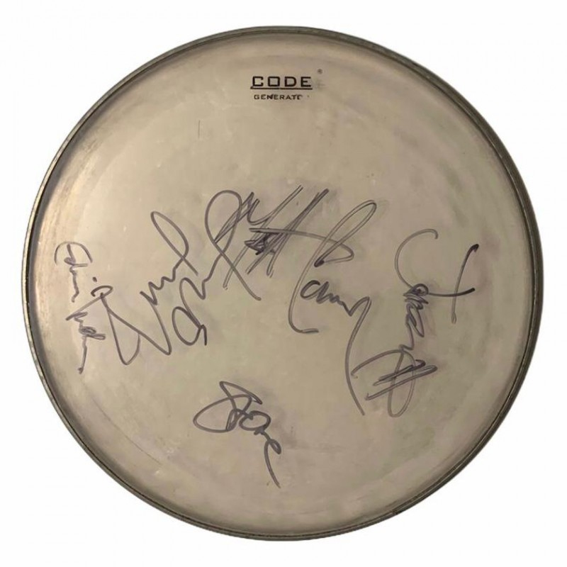 Pearl Jam Fully Signed Drumskin