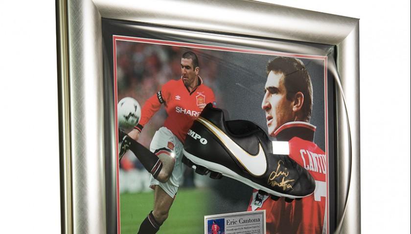 Destino plan de ventas freír  Eric Cantona Signed Nike Tiempo Football Boot - Man Utd - CharityStars