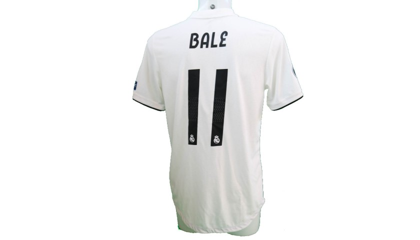 brand new 5e7b8 5120c Bale's Real Madrid Match-Issue/Worn Shirt, Liga UCL 2018/19 - CharityStars