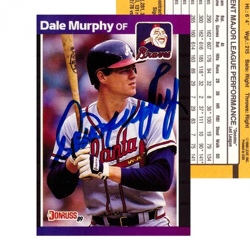 Dale Murphy Signed 1988 Atlanta Braves Baseball Card