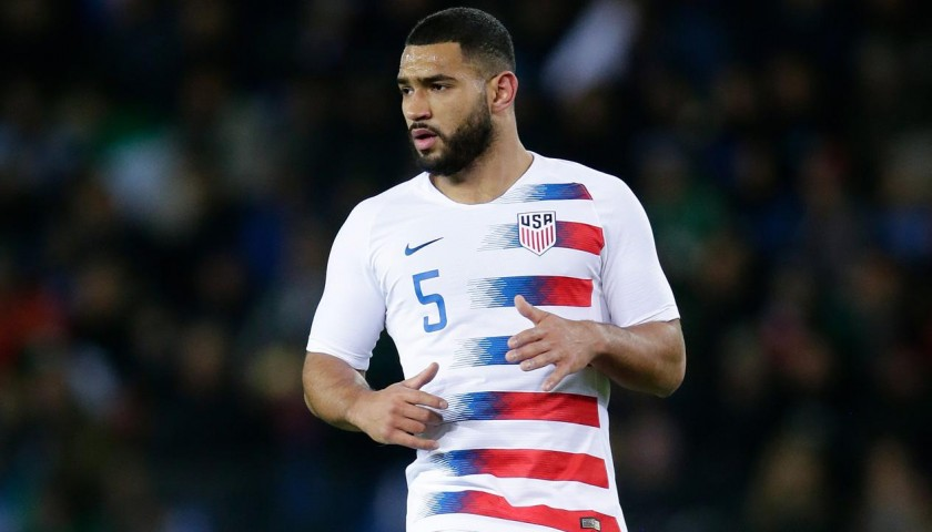 Cameron Carter-Vickers' USA Match-Issued Signed Shirt, 2018