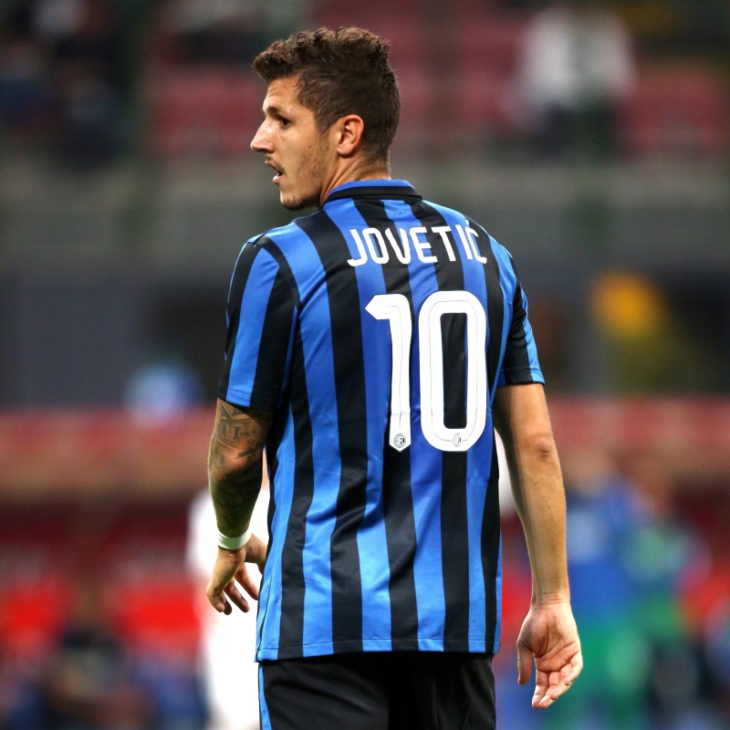 Match worn Jovetic shirt, Inter-Juventus Serie A 18/10/2015
