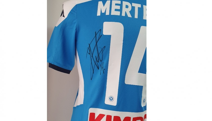 Mertens' Napoli Worn and Signed Shirt, 2019/20
