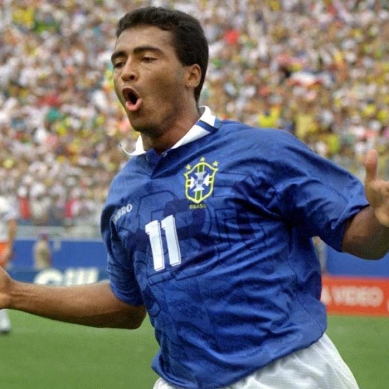 Brazil Training Shirt - Signed by Romario