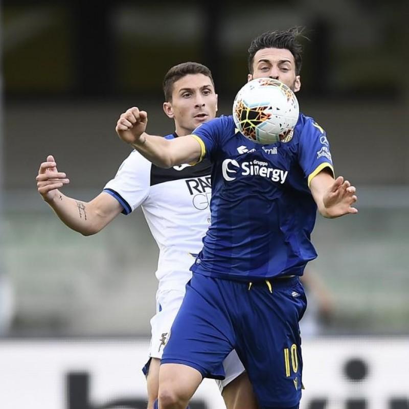 Caldara's Match-Issued Shirt, Hellas Verona-Atalanta 2020