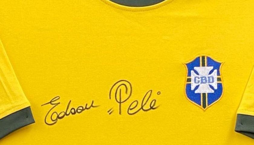 Pelé Signed Replica Shirt