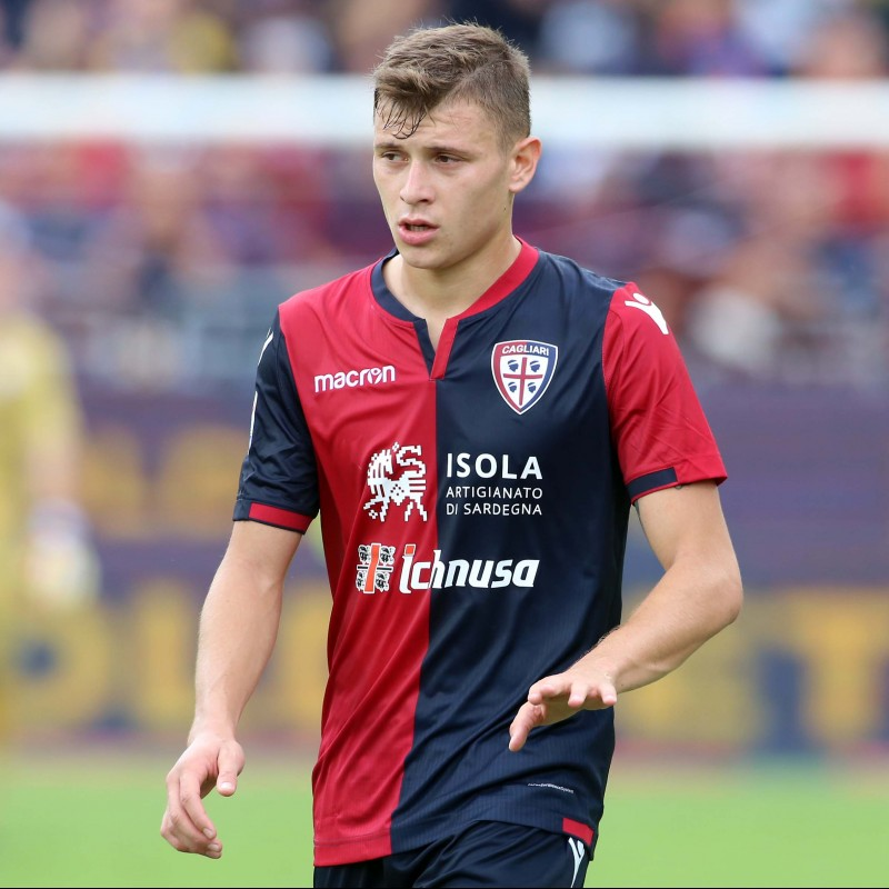 Barella's Signed Match-Issued Cagliari Shirt, Serie A 2017/18