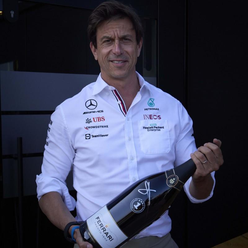 Ferrari F1 Podium Jeroboam signed by Toto Wolff