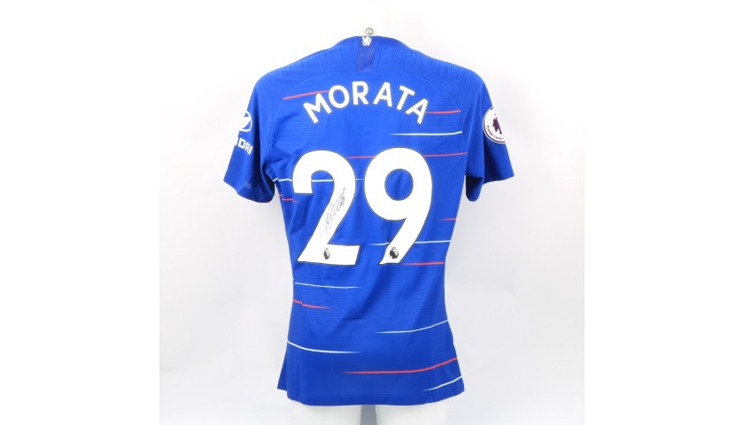 Morata's Chelsea Match-worn and Signed Poppy Shirt