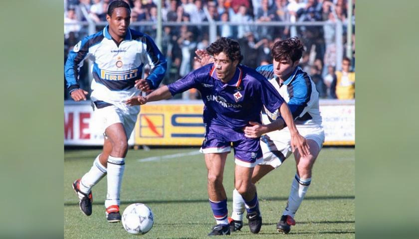 Rui Costa's Official Fiorentina Signed Shirt, 1996/97