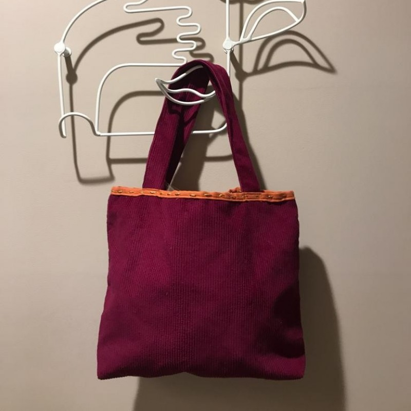 Laura Zagari Red Handmade Bag