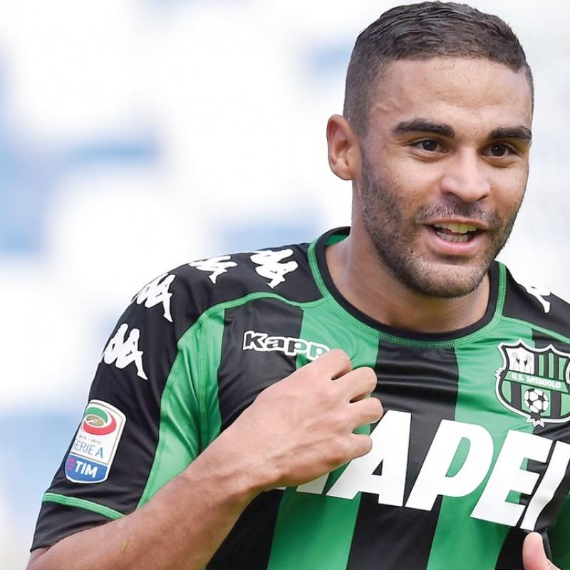 Defrel Sassuolo Match Worn Shirt, Serie A 2016/17