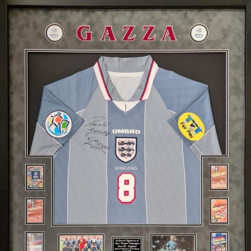 Paul Gascoigne Signed Euro 1996 Away Shirt